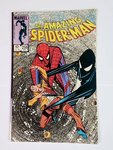 Amazing Spider-Man #258 Marvel Comics, 1984, Sinister Secret/New Costume, Shooter, Defalco, CardboardandCoins.com