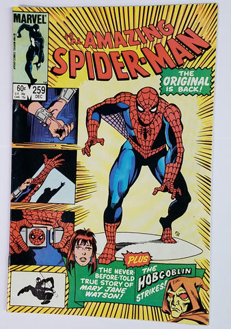 Amazing Spider-Man, 259, Marvel, Spiderman, Hobgoblin, She-Hulk, Symbiote, Black Suit, Comic Book, Comics, Vintage, Book, Collect, Trading, Collectibles