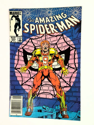 Amazing Spider-Man #264 Marvel Comics, 1985, First Appearance of Red 9. By Shooter