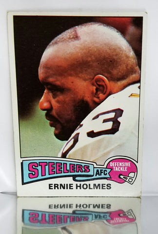 "1975 Topps # 328 Ernie Holmes ROOKIE CARD, ""Fats"", Deceased 2008, Pittsburgh Steelers, EX+, CardboardandCoins.com"