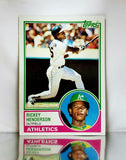 1983 Topps # 180 Rickey Henderson, HOF, All-Time Stolen Base Leader, Oakland Athletics, A's, Graded NM-MT, CardboardandCoins.com