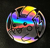 Pokemon Silver Sheen Holofoil, Black-backed Pikachu Collectible Coin New Rare Late Release XY Flashfire, CardboardandCoins.com