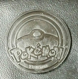 Pokemon Yellow and Silver Pikachu Collectible Coin New Ultra Rare Late Release XY Flashfire, CardboardandCoins.com
