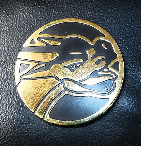 SHINY GOLD MEGA CHARIZARD COIN - RARE Pokemon Collectors Item - XY Flashfire, CardboardandCoins.com