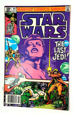 "Star Wars #49 ""THE LAST JEDI"" Marvel Comic Book (New Movie!!) Original 1977 run, CardboardandCoins.com"