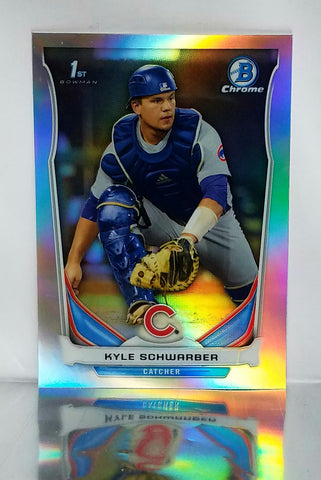 2014 Bowman Chrome Draft Kyle Schwarber ROOKIE REFRACTOR CDP2 Cubs World Series, CardboardandCoins.com