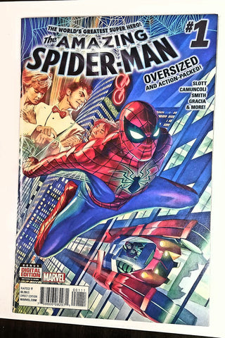 THE AMAZING SPIDER-MAN #1 (Marvel Comics, 2015) GEM MINT COMIC BOOK, Slot, etc, CardboardandCoins.com