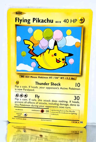 "Flying Pikachu 110/108 SECRET RARE Pokemon XY Evolutions TCG NM ""SECRET RARE"", CardboardandCoins.com"