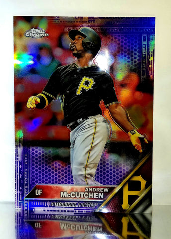2016 Topps Chrome PURPLE REFRACTOR Andrew McCutchen, Pirates #175 #'d 170/275, CardboardandCoins.com