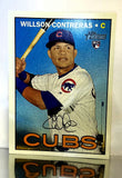 2016 Topps Heritage #505 Willson Contreras ROOKIE CARD, High Number, High #, Cubs, World Series, CardboardandCoins.com
