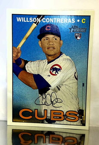 2016 Topps Heritage #505 Willson Contreras ROOKIE CARD, High Number, High #, Cubs, World Series