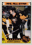 1987 Topps #11 MARIO LEMIEUX 2nd Year!! Early Original Lemieux RARE Sticker Card Insert, Pittsburgh Penguins, All-Star, HOF, Stanley Cup, CardboardandCoins.com