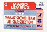 Mario Lemieux, Topps, Sticker, Insert, Pittsburgh, Penguins, Hockey Card, HOF