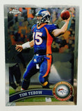 Tebow, Rookie, Topps, Chrome, Denver, Broncos, Quarterback, NFL, Football Card