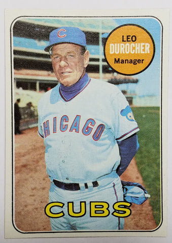 1969 Topps #147 Leo Durocher, Manager, Chicago Cubs, HOF, Brooklyn Dodgers NICE