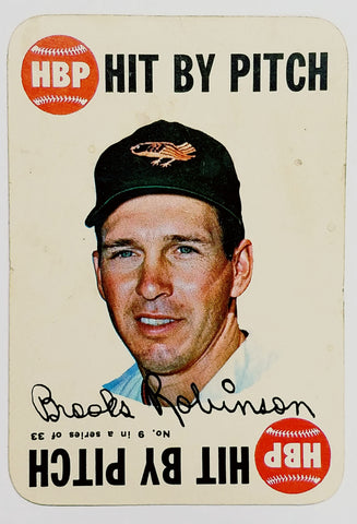 1968 Topps Game BROOKS ROBINSON #9, Orioles. From a Rare, Odd, HOT Topps Subset, CardboardandCoins.com