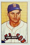 1951 Bowman #271 Tommy Wright, Boston, Original Card, Outstanding Shape! WOW, CardboardandCoins.com