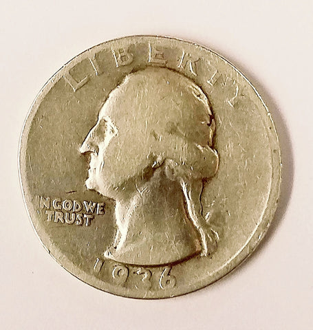 NICE COIN! 1936-D Washington Quarter Silver Quarter. A Shiny Collectors Item!!, CardboardandCoins.com