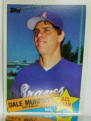 1985 Topps #716 Dale Murphy ALL-STAR, Braves, Tough Card to Find, SET BREAK!!, CardboardandCoins.com
