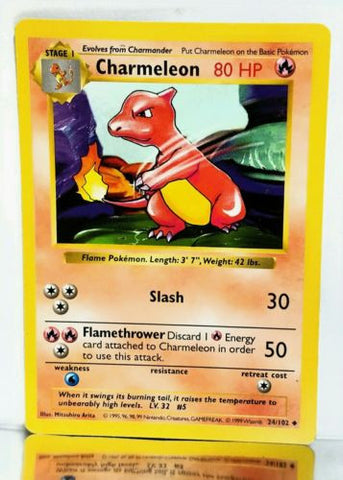 Charmeleon, Shadowless, Base Set, Pokemon, Cards, Vintage, TCG, Game, Collect, Trading, Collectibles