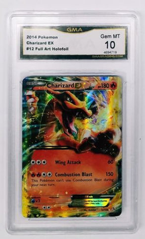 GRADED 10 !! Pokemon Charizard EX 12/106 Full Art Ultra Rare Holo XY Flashfire!, CardboardandCoins.com