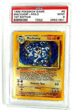 PSA 9 MINT: 1st Edition MACHAMP 8/102 HOLO RARE * Pokemon Base Set * PSA 9 MINT, CardboardandCoins.com