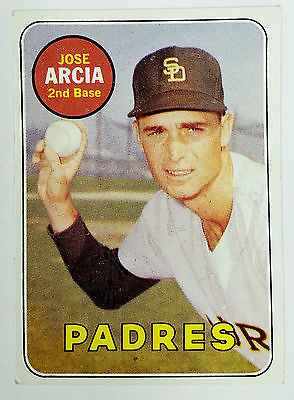 WL WHITE LETTERS ERROR 1969 Topps Jose Arcia Padres #473 RARE White Name/WN, CardboardandCoins.com