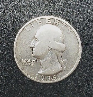 1935-D Washington Quarter/Silver Quarter, Top 10 EBay Searched Coin, SHINY/HOT!, CardboardandCoins.com