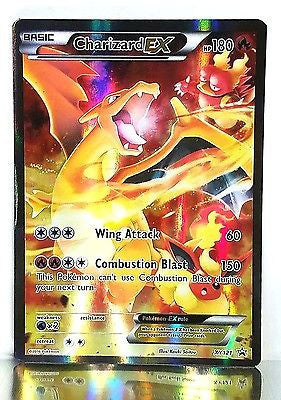 Pokemon XY121 Charizard EX Full Art XY Generations 20th Anniversary w/Hard Case, CardboardandCoins.com