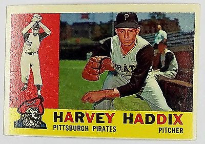 1960 Topps #340 Harvey Haddix SET BREAK Pirates Pitcher 12 Perfect Innings Game