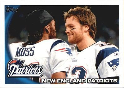 Tom Brady, Randy Moss, Topps, New England, Patriots, Super Bowl, MVP, NFL, Football Card