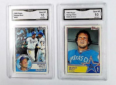 Lot of Two (2) x Graded 10 George Brett Cards!! 1983 Topps #600 & #388 All-Star, CardboardandCoins.com
