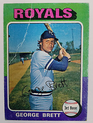 GEORGE BRETT ROOKIE CARD! 1975 Topps #228 HOF RC Original Owner; 3-Day Auction!