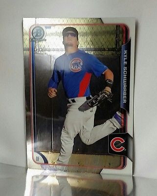 2015 Bowman Chrome Prospects BCP58 Kyle Schwarber ROOKIE CARD World Series Cubs, CardboardandCoins.com