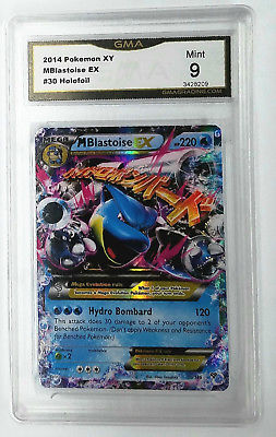 Pokemon GRADED 9 MINT MEGA BLASTOISE EX 30/146 FULL ART ULTRA RARE HOLO XY BASE, CardboardandCoins.com