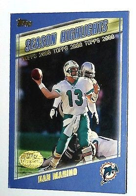 Marino, Topps, Miami, Dolphins, HOF, Quarterback, Super Bowl, MVP, NFL, Football Card
