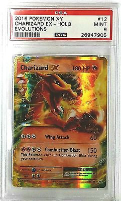PSA 9 MINT Pokemon Charizard EX 12/108 XY Evolutions - SUPER HOT CARD, TCG, CardboardandCoins.com