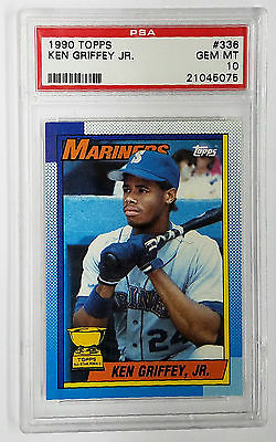 PSA 10 KEN GRIFFEY JR ROOKIE! 1990 Topps #336 GEM MINT RC, Mariners, HOF. HOT!!, CardboardandCoins.com