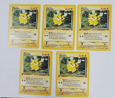 1st Edition Pikachu 60/64 Pokemon Jungle Set First Edition QTY AVAIL w/LOW SHIP