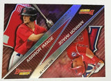 Andrew Benintendi, Rookie, Refractor, Mike Trout, Bowman, Best, Angels, Mirror Image
