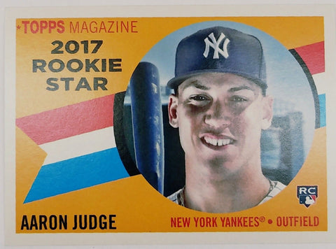 2017 Topps Archives Sp Aaron Judge Rookie Card Rs 9 Yankees Mag 1960 Style