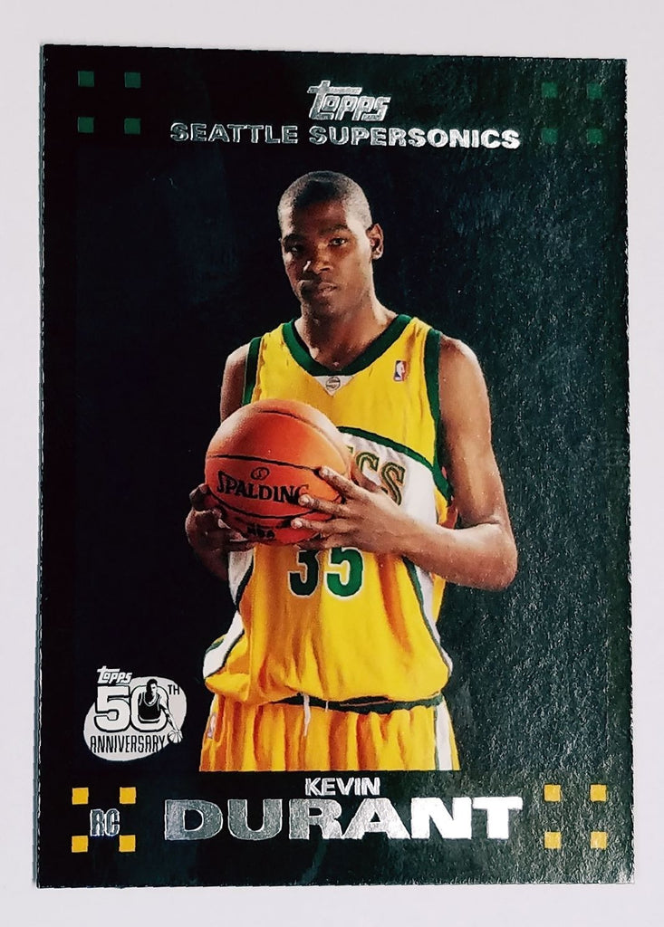 buy popular f63a9 7a896 Kevin Durant ROOKIE CARD 2007-2008 Topps #112 Supersonics, Warriors, NBA,  RC !!