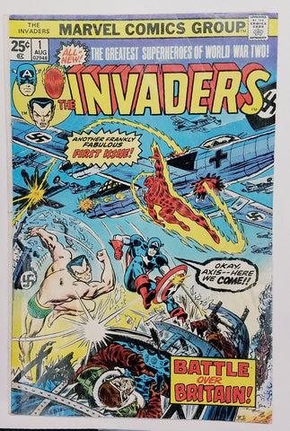 Invaders, 1, Marvel, 1975, Comic Book, Comics, Vintage, Book, Collect, Trading, Collectibles