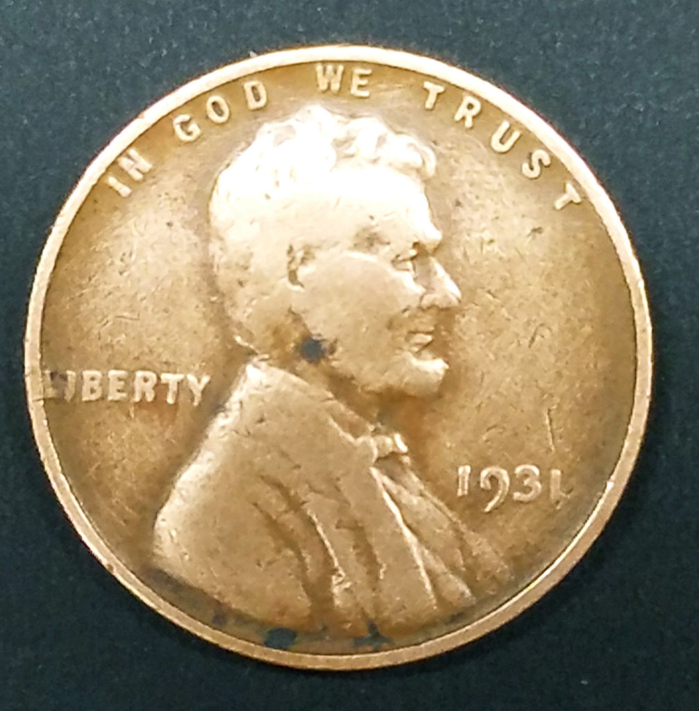 HOT! 1931 Lincoln Wheat Cent Penny Key Date RARE COIN Low Mintage Nice  Detail