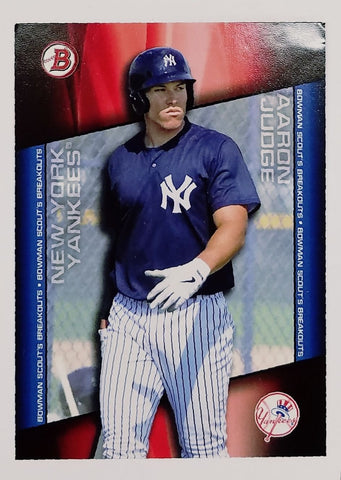 "AARON JUDGE ROOKIE CARD 2014 Bowman ""Scout's Breakout"" #BSB-AJ Yankee Phenom RC, CardboardandCoins.com"