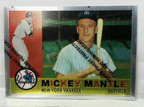 1996 Topps Finest 1960 Topps Mantle #350 Dead-Centered, Pack Fresh #10/19