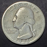 1936-D Silver Washington Quarter Key, Low Mintage Coin, NICE Detail!
