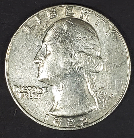 1982, 1982-P, Philadelphia, Washington, Quarter, Coin, Collectible, Clad, Alloy, Hobby, Coins