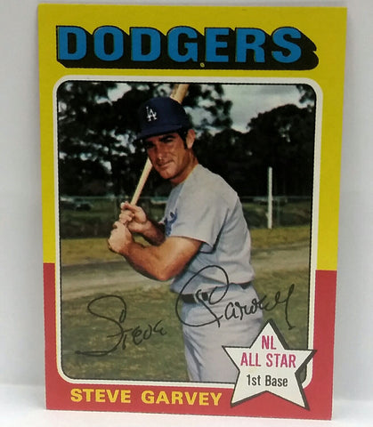 1975 Topps #140 Steve Garvey SET BREAK NM+ Nice corners, No Creases, Glossy Surface