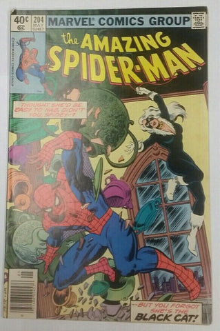 Amazing Spider-Man, 204, Marvel, Spiderman, Black Cat, 1st Appearance Dawn Starr, Comic Book, Comics, Vintage, Book, Collect, Trading, Collectibles